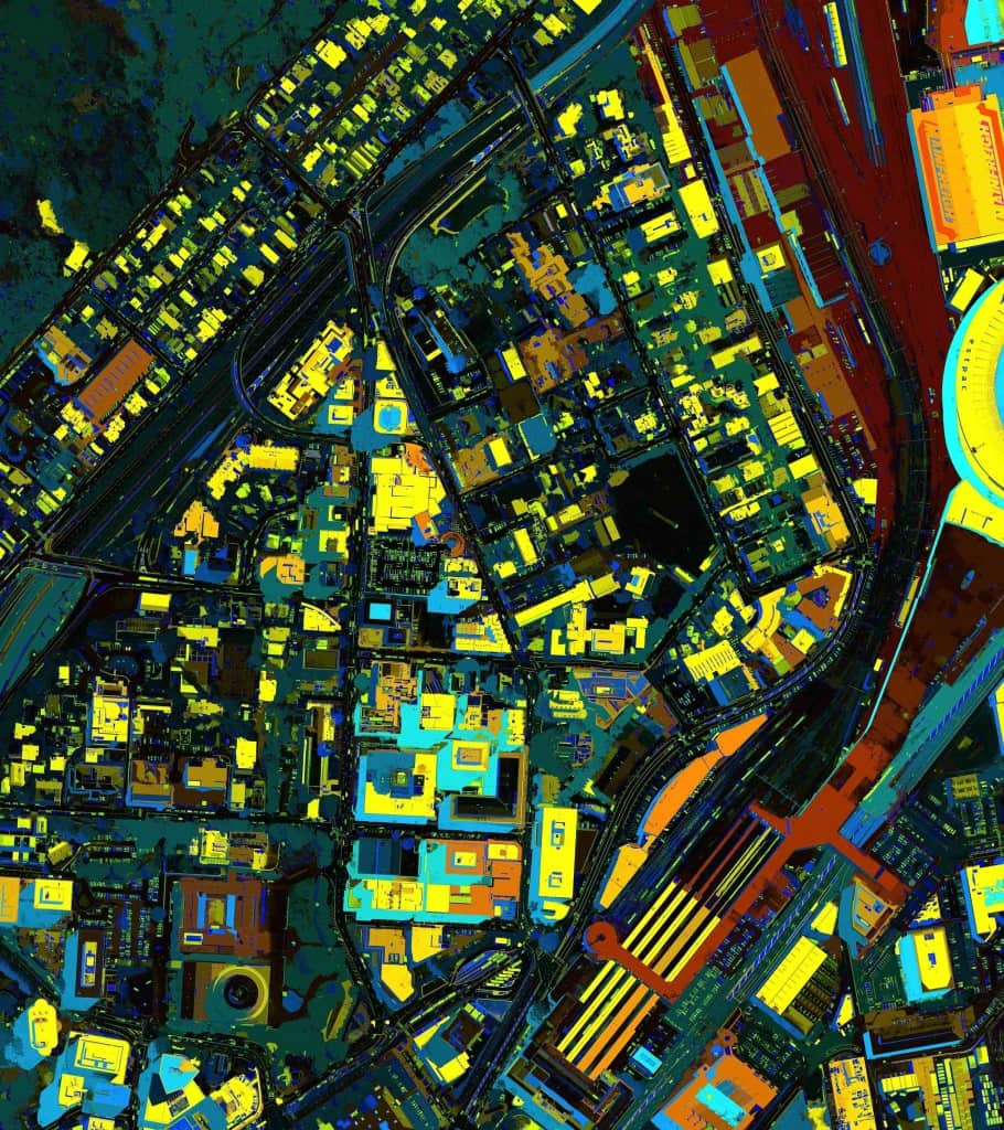 Analysis of Wellington buildings by the European Commission's Joint Research Centre in Italy. It is using satellite images and remote sensing systems to create a 'Global Human Settlement Layer' for the Digital Earth project.
