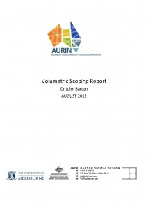 AURIN volume report 2012 cover