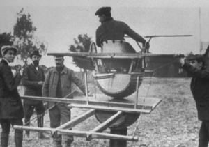The Antoinette Trainer, world's earliest flight simulator for pilots.