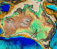 Geoscience Australia's national elevation modelling.