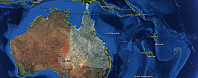 Queensland on the QLD Globe map interface.