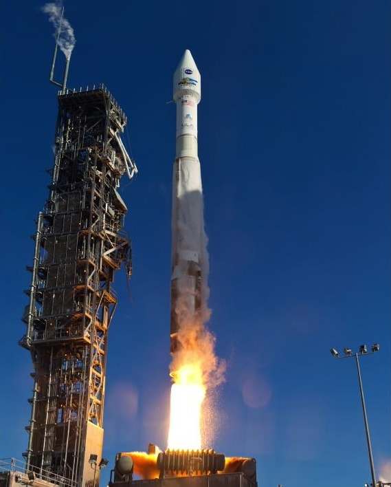 The United States launch of another Landsat (8) satellite at Vadenburg Air Base, California, on 12 February 2013. (NASA)