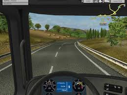 Serious game simulation for truck driving. (Eurotruck.)