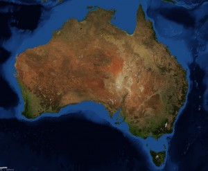 Satellite image of Australia. terra-mater/tumblr.
